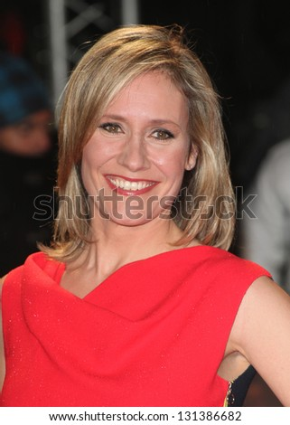 Sophie Raworth arriving for the 'A Good Day to Die Hard' UK Premiere, Empire Leicester Square, London. 07/02/2013 Picture by: Alexandra Glen
