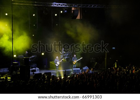 SOPOT, POLAND - DECEMBER 10: The show of Kombi band during Gala Sports in Ergo Arena. December 10, 2010 in Sopot, Poland.