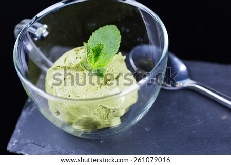 Sorbet in glass cup - stock photo