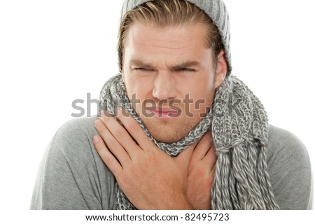 sore throat - stock photo