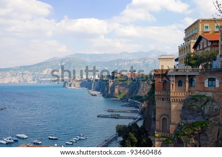 Sorrento coast - stock photo
