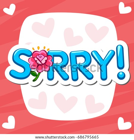 Sorry banner word sorry speech bubble stock illustration 686795665 sorry banner of word sorry in speech bubble romantic greeting cards m4hsunfo