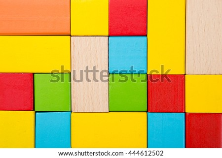 Sorted wooden toy Block Background