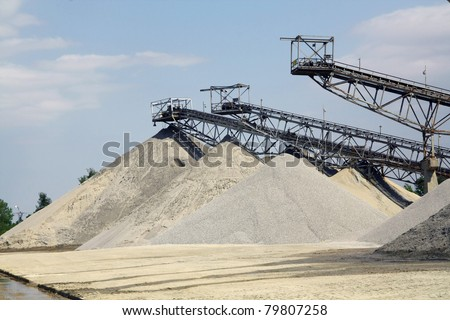 Sorting sand towers - stock photo
