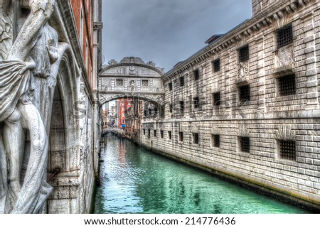Sospiri bridge in Venice. hdr tone mapping.