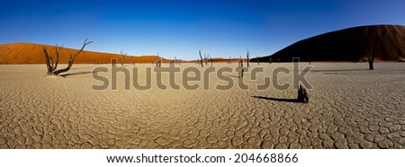 sossusvlei panorama - stock photo