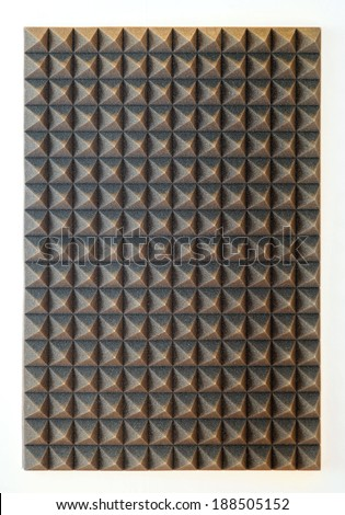 Sound absorbing sponge isolation for studio - stock photo