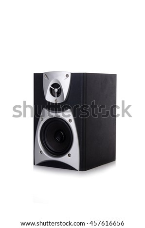 Sound audio speaker isolated on white background - stock photo