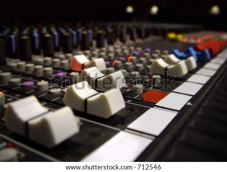 Sound Board 2 - stock photo