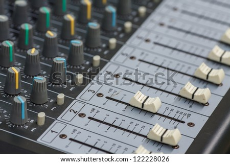 Sound board Mixing console