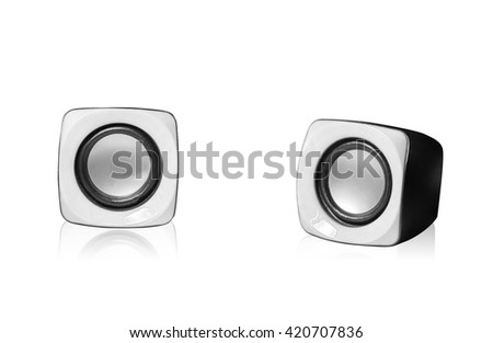 sound box on isolated with clipping path