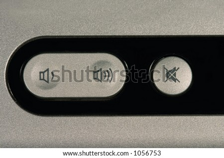 sound control buttons - stock photo
