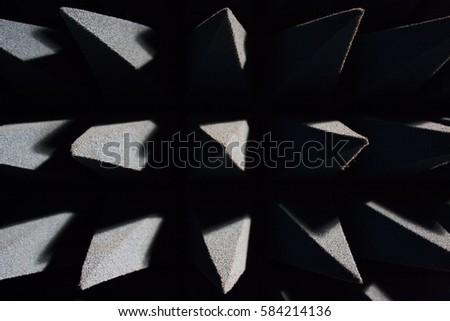 sound dampening foam in a chamber