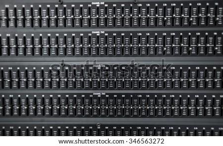 Sound level - stock photo