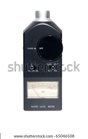 sound level meter - stock photo