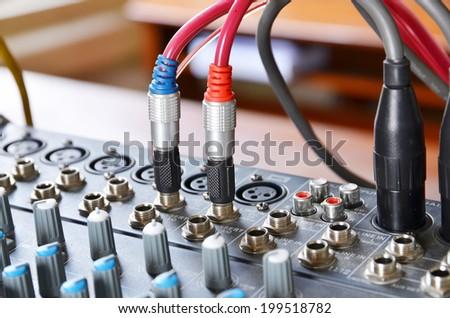 sound mixer, - stock photo