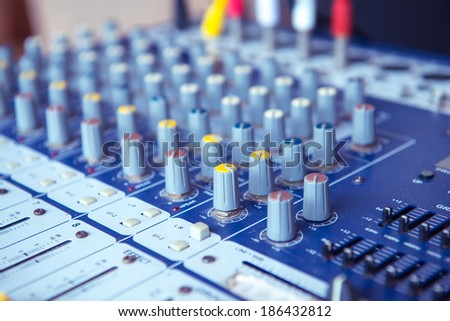 Sound mixer useful for various music and sound themes