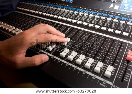 Sound Mixer Logo Sound Mixing Console With