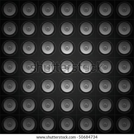 Sound Wall Background - stock photo