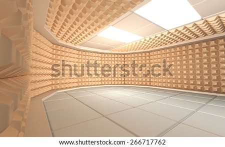 Soundproof room - stock photo