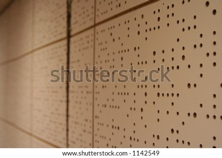 Soundproof wall in a bandroom - stock photo