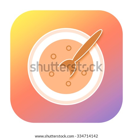 Soup icon - stock photo