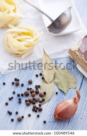 soup ingredients - stock photo