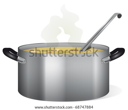 Soup pot - stock photo