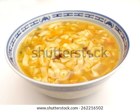 soup with noodles - stock photo