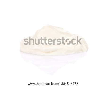 Sour cream sauce. Isolated on white background