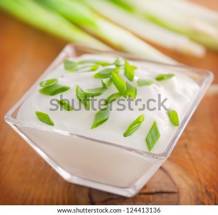 sour creame - stock photo