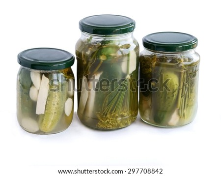 sour cucumber as preserve - stock photo