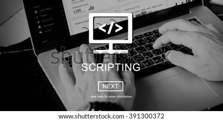 Source Code System PHP Scripting Concept - stock photo