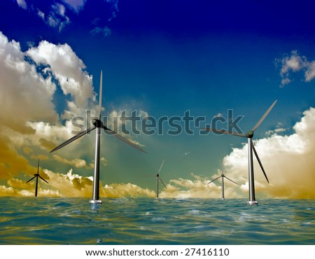 Source of a wind power