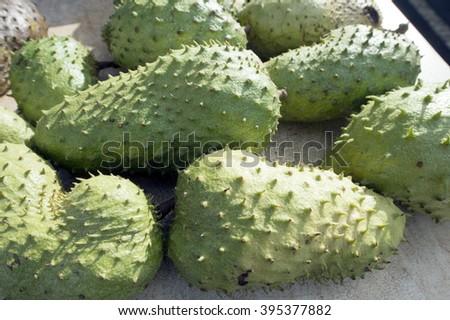 Soursop, Hawaiian tropical fruit - stock photo