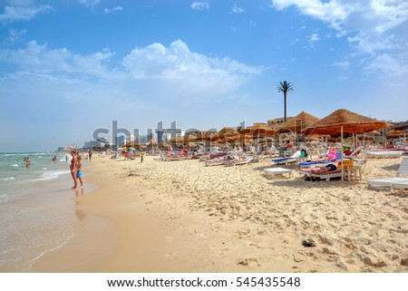soussetunisia july 22016tourists rest in the hotel on the