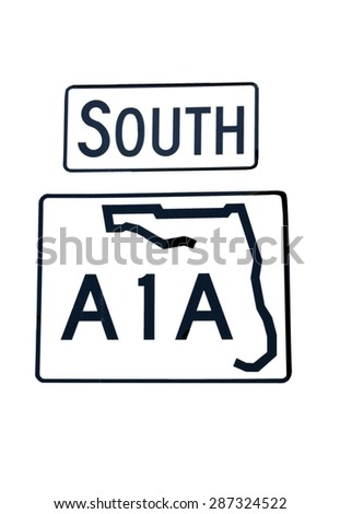 South A1A sign Florida, USA. - stock photo