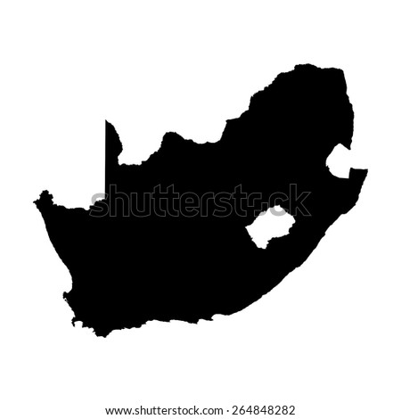 South Africa blank Map - stock photo