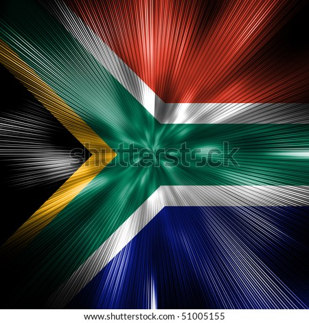 South Africa flag Energy Warp - stock photo