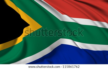 South Africa flag HI-RES collection - stock photo