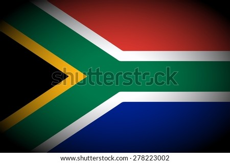 South Africa flag icon - isolated illustration vignetted - stock photo