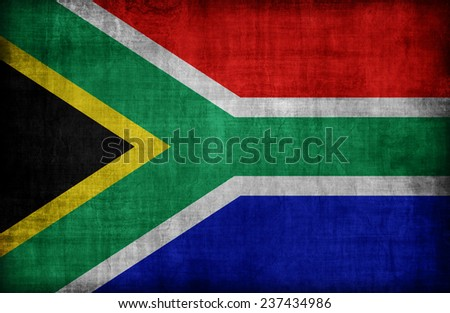 South Africa flag pattern,retro vintage style - stock photo