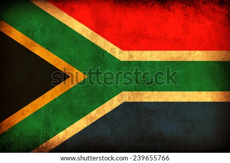 South Africa grunge flag - stock photo