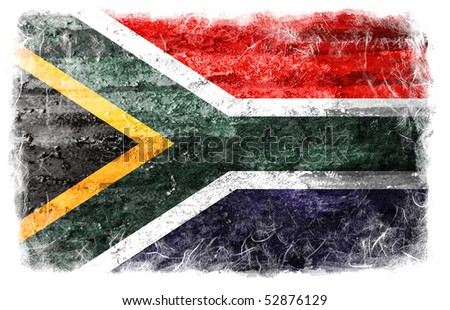 South Africa grunge flag