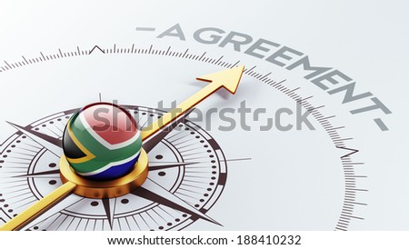 South Africa High Resolution Agreement Concept - stock photo