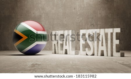 South Africa High Resolution Real Estate Concept - stock photo