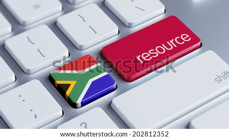 South Africa High Resolution Resource Concept - stock photo