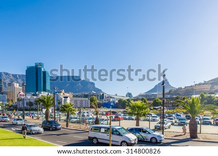 South Africa - January 29 2015: Tour around the cIty centre of Cape Town - stock photo