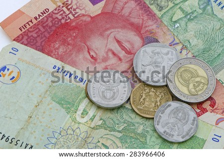 South African Money - stock photo