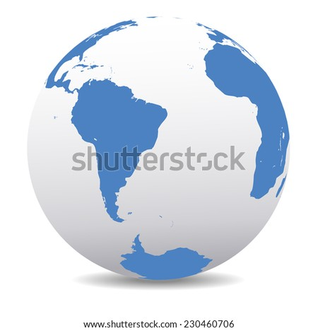 South America and Africa Global World - Raster Version - stock photo